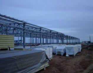 INTECO construction произвела сэндвич-панели для строительства военного городка